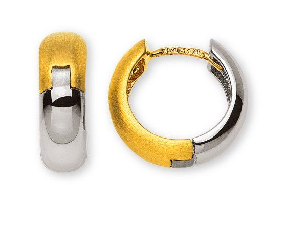kreolen-bicolor-gelb-weissgold-750-WG Poliert-GG-satiniert-OGO4093