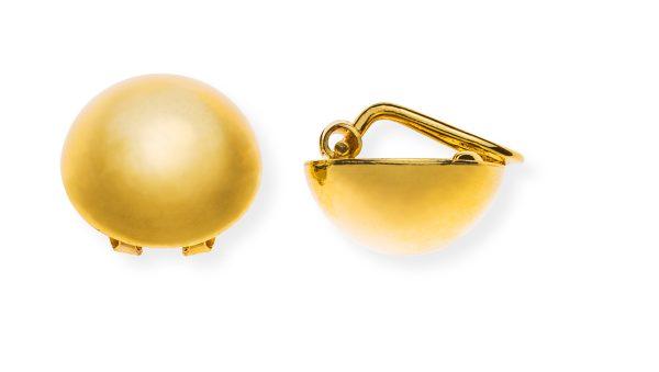 ohrclip-halbkugel-gelbgold-750-poliert-OGO1157