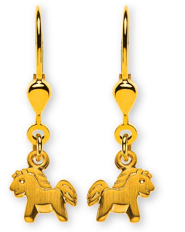 ohrhänger-pferd-gesandelt-gelbgold-750-mit-brisur-OGO1065