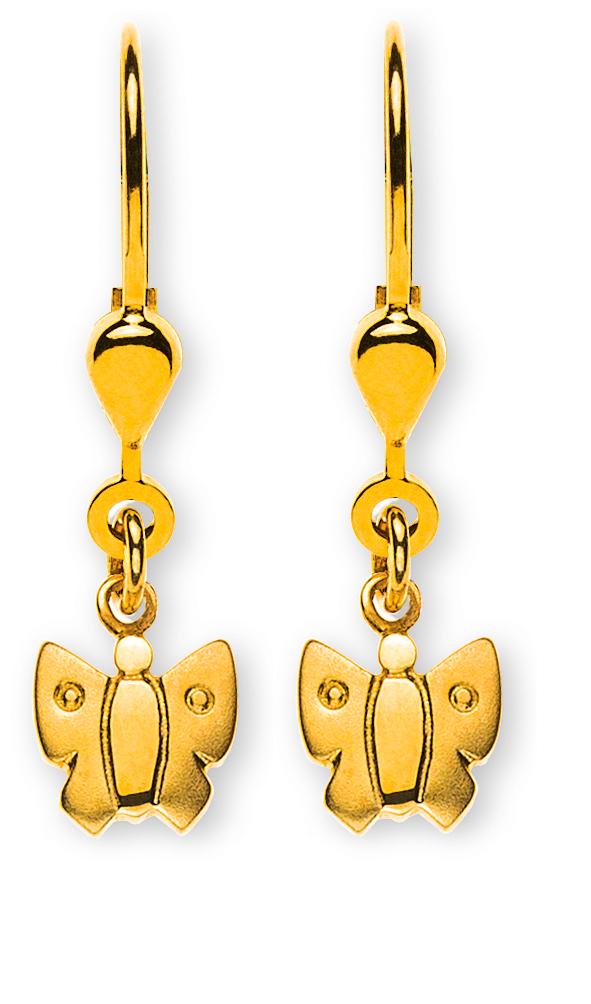 ohrhänger-schmetterling-gesandelt-gelbgold-750-mit-brisur-OGO1067