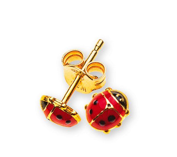 ohrstecker-marienkäfer-klein-gelbgold-750-OGO1017
