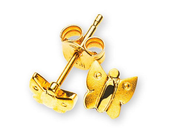 ohrstecker-schmetterlinge-gelbgold-750-OGO1056