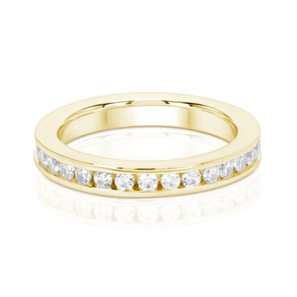 Mémoire-Ring-Gelbgold-Kanal-Fassung-750-31-Brillanten-H-SI-0.93ct.-RBR1132