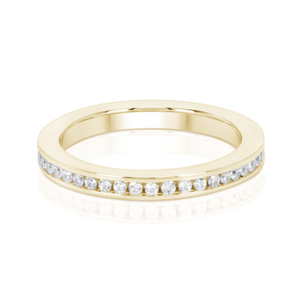 Mémoire-Ring-Gelbgold-Kanal-Fassung-750-45-Brillanten-H-Si-0.45ct.-RBR1130