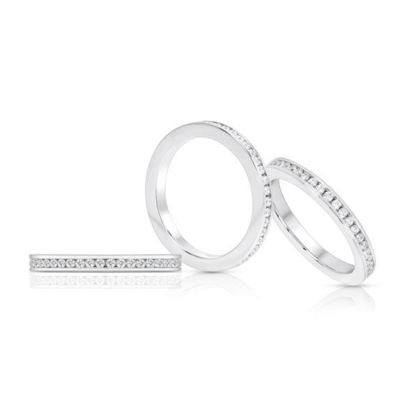 Mémoire-Ring-Weissgold-Kanal-Fassung-750-45-Brillanten-H-SI-0.45ct.-RBR2130