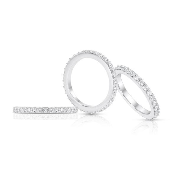 Mémoire-Ring-Weissgold-Korn-Fassung-750-33-Brillanten-H-SI-0.99ct.-RBR2126