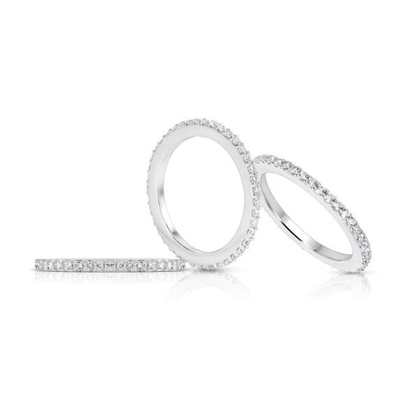 Mémoire-Ring-Weissgold-Korn-Fassung-750-45-Brillanten-H-SI-0.42ct.-RBR2124