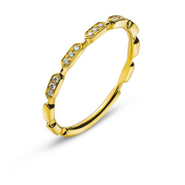 Ring-Gelbgold-750-Mit-15-Brillanten-H-SI-0.07ct.-RBR1154