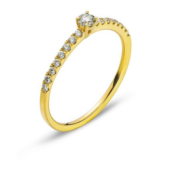 Ring-Gelbgold-750-Mit-16-Brillanten-H-SI-Tot.-0.15ct.-&-1-Brillant-H-SI-0.10ct.-RBR1138