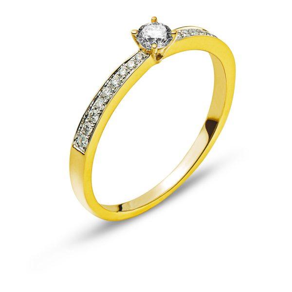 Ring-Gelbgold-750-Mit-18-Brillanten-H-SI-Tot.-0.10ct.-&-1-Brillant-H-SI-0.15ct.-RBR1140