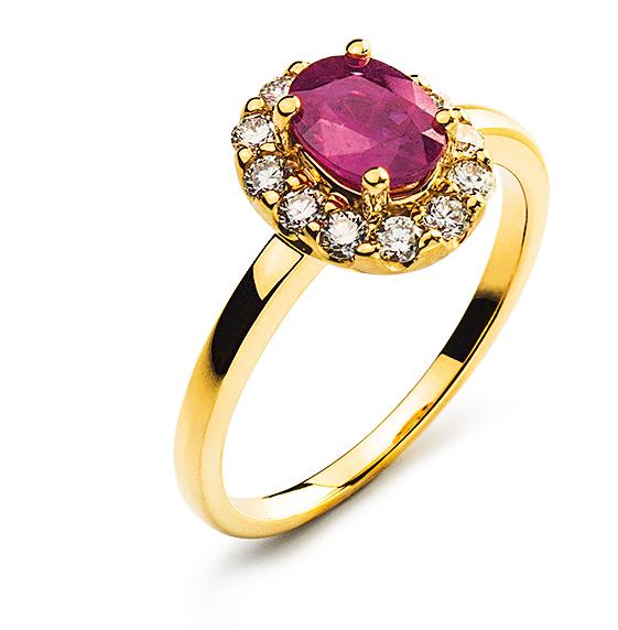 Ring-Gelbgold-750-Mit-Rubin-1.10ct.-RFA1005-1