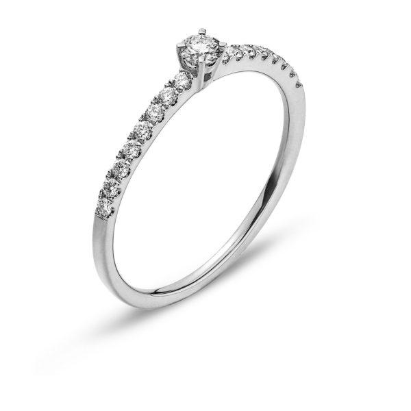 Ring-Weissgold-750-Mit-16-Brillanten-H-SI-tot.-0.15ct.-&-1-Brillant-H-SI-0.10ct.-RBR2138