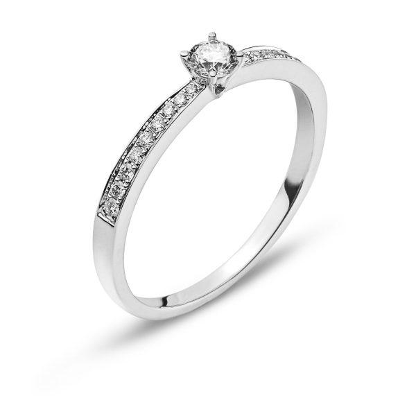 Ring-Weissgold-750-Mit-18-Brillanten-H-SI-tot.-0.10ct.-&-1-Brillant-H-SI-0.15ct.-RBR2140