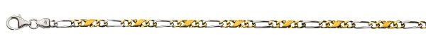 carrera-figaro-collier-poliert-satiniert-bicolor-45cm-gelb-weissgold-750-ca-3-5mm