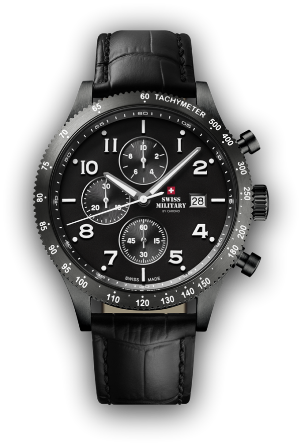 Swiss Made Watches Swiss Military Chronograph 42 mm 10ATM SM34084.07